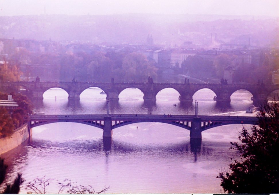 Karlův most pohled z Letné