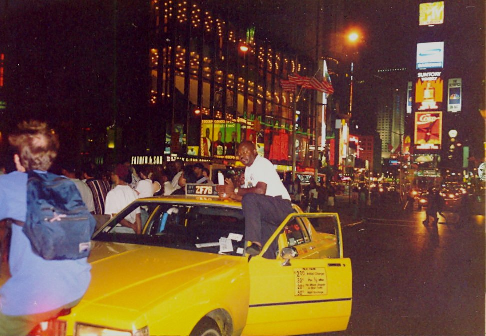 Cab driver on Times Square New York